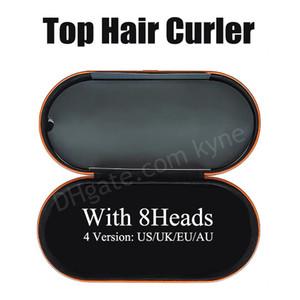 AB / İNGILTERE / ABD / AU 8 KAPSAMLAR SAÇ Bigudi Hediye Kutusu Ile Çok Fonksiyonlu Saç Şekillendirici Cihazı Otomatik Curling Demir Normal Saç için En Kaliteli