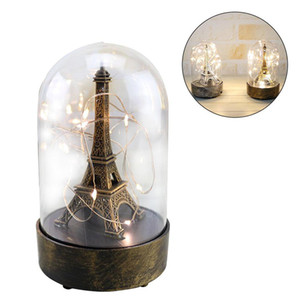 Romantic LED Table Lamp For The Bedroom Night Lights Paris Tower Light Night Lamp For Valentine's Day For Home Decorative Light