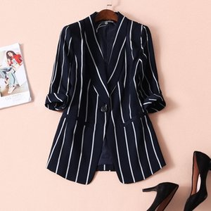 5XL Grand Taille Blazers Femmes Spring and Summer Coat Tops Loose Costumes Noir Clothings Lady 201023