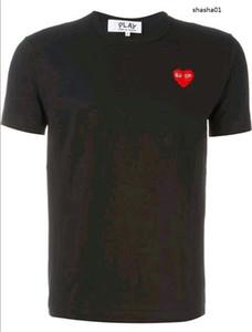 homens camisetas de grife Commes OFF com coração desporto Camisetas des Garcons Branca T-shirt JOGO Pablo CDG para o verão Vetements T topos
