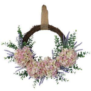 الاصطناعي eucalyptus اكليلا، الاصطناعي زهرة اليدوية اكليلا من الزهور اليدوية جدار نافذة الزفاف حزب ديكور
