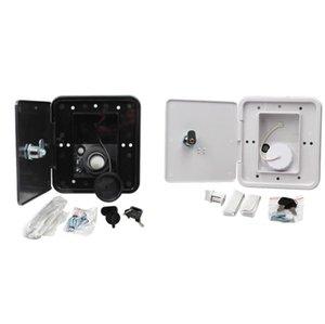 151x166 mm RV Hatch Cover Acessórios Lockable Water Entrada Peças com chaves Prato de enchimento de rosqueado quadrado para trailer RV