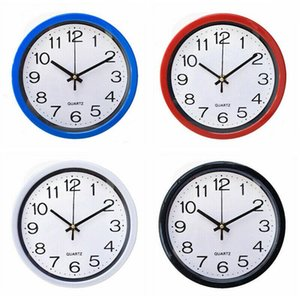 Fashion Simplicity Round Wall Clock Quartz Silent Sweep Movement Home Bedroom Kitchen Office Decor Clocks Fits For Living Room