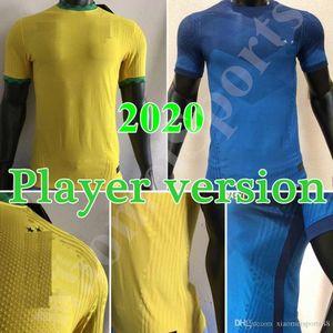 New Player Version 2020 Brasilien Copa America Home Away Gelb Fussball Jersey 20 21 # 11 P.COUTINHO Soccer-Hemd # 12 Marcelo Fußballuniformen