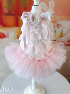 Girl Dog Cat Dress Tutu Lace Design Pet Puppy Skirt Spring Summer Clothes Outfit 5 Sizes