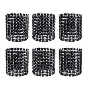 120 Pcs Rhinestone Napkin Rings Napkin Holders Adornment for Place Settings Wedding Receptions Dinner or Holiday Parties Family