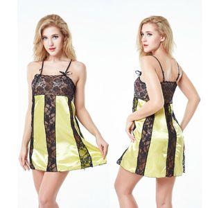 Sehen durch Hosenträgerrock Sex Erotische Unterwäsche Damen Tüll Spitze Kleid Sexy Dessous Mesh Stoff Transparent Pyjamas für Frauen