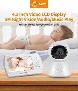 Cámaras de 5 pulgadas WiFi inalámbrico Video Baby Monitor Niñera HD 1080P Cámara de seguridad Visión nocturna Monitoreo de temperatura de la Visión Noche Alarma de alimentación