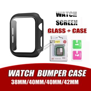 Matte Hard Watch Case with Screen Protector for Apple iwatch Series 5 4 3 2 1 Full Coverage Case 38 40 42 44mm
