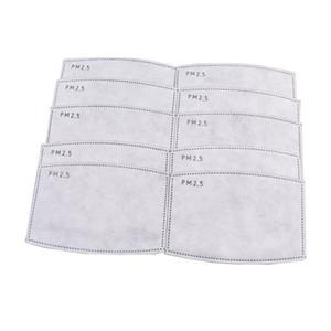 5 capas protectoras PM2.5 máscara desechable PAD Mascarillas de cara Pad Reemplazo de la junta interna de reemplazo del filtro del filtro del respirador GWC3217
