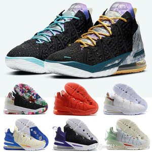 Lebrons 18 Reflections James Gang Los Angeles By Day Basketball Shoes XIV Lakers Empire Jade James Soldiers Sport sneakers Trainer US 7-12