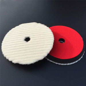 "7"" 180mm Japanese-Style Short Hair Auto Detailing Buffing Cutting Pad Natural Sheepskin Wool Polishing Pad"