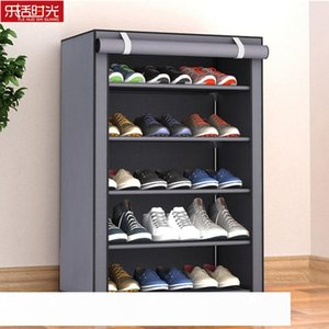 Nonwoven Fabric Simple Shoes Rack Close to the Door Detachable Shoes Organizer Closet Storage Living Room Dustproof Shoe Shelf CJ191216