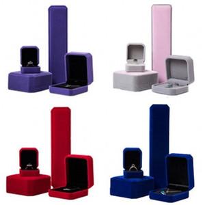 Multicolore velluto Ornamento Gift Box applicare tre Tipo dei monili Caso collana anello ciondolo orecchini contenitore di immagazzinaggio 3 69mn L2
