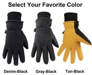NIGDESI double couche chaude et des gants de ski à l'épreuve du froid hiver résistant à l'usure des gants anti-gel froid.