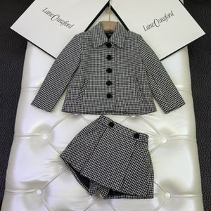 top quality kids clothing sets kids clothes girls tops jacket sweatshirt sweaters skirt dress 2pcs sets ZFBB