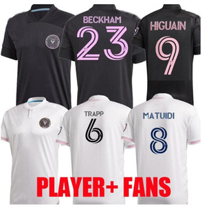 Jugador Versión 2020 2021 MLS Inter Miami CF Jerseys de fútbol 20 21 Higuain Trapp Pizarro Pellegrini Matuidi Beckham Hombres niños Camisetas de fútbol