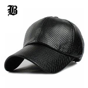 [FLB] Serin! Erkekler için yeni moda PU siyah beyzbol Cap kadın Şapkalar kadınlar 201019 için Deri kapak Trucker kap casquette snapback kış sonbahar