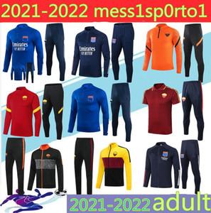 2021 Rome Olympique Lyonnais Lyon Tacksuit Men Fútbol Traje de entrenamiento 20 21 Maillot de Foot Memphis Ol Lyon Football Truco Jogging