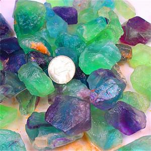 Cristaux de guérison naturelle Pierre Sri Lanka cristal couleur fluorite rugueux Petit Ornements irrégulière Vert Bijoux de haute qualité 2AJ M2
