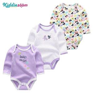 신생아 아기 옷 Nightwear Kid Girlboy Rompers 어린이를위한 드레스 0-12M 코튼 루마 드 베 비트 잠옷 3piece / 세트 의류 201029