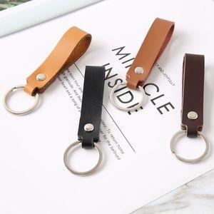 Art und Weise Retro Leder Einfache Auto-Schlüsselkette für Männer Frauen Schlüsselring hängt Modeschmuck werden und sandige neuen Schlüsselbund