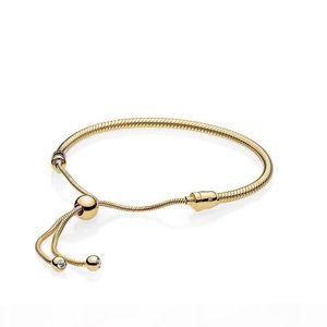 14K Yellow Gold Hand Rope BRACELET Original Gift Box for designer 925 Silver Wedding Jewelry Bracelets Set for Women