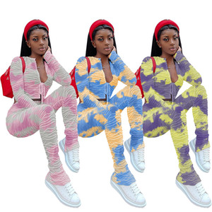 Krawatte Dye Womens Zwei Teile Hosen Mode Lässig gestapelt 2 stücke Set Sexy Bandge Anzüge Frauen Kleidung