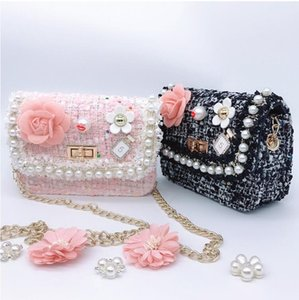 Small Purses and Handbags Cute Pearl Crossbody Bags for kids Flower Shoulder Bag Girls Clutch Purse Gift