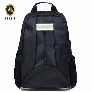 PEGASI Oxford Tool Pouch Fabric Backpack Multi-function Outdoor Backpack Electricians Tool Bag Black Durable Toolbag qcZy#