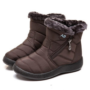 Men Womnen Winter Snow Boots Waterproof Leather Sneakers Warm Men's Boots Outdoor Hiking Boots Work Shoes size 36-43