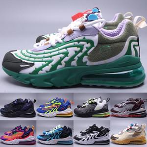 270s React ENG Travis Scott Men Womens Running Shoes Air Cushion Designer Sneakers Blackened Blue Black Sapphire Trainers Size 5.5-11