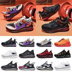 Nouvelle mode de vente en gros Baskets de coude de course Chaussures de course Coussin Palm Absorption Amortisseur Purple Noir Bleu Red Gris Formateurs Split Taille 40-45