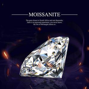 Szjinao Real 100% Сыпучие Камни Moissanite Алмазного 1.0ct 6.5mm D Цвет VVS1 Бриллиантовые Круглое Для кольца ювелирных изделий с GRA Сертификат Q1113