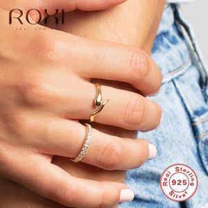 Roxi Vintage Kadınlar Punk Ayarlanabilir Hayvan Açık Halkalar Bildirimi Takı anillos için 925 Gümüş Yılan Parmak Yüzük mujer