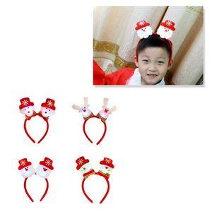 4PCS Christmas Headbans Snowman Decorative Party Favors Hair Hoops Costume Photo Props Accessory Headwear