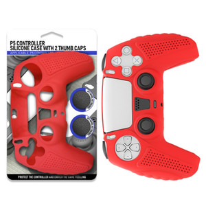New for PS5 Controller Grip Skin Anti-Slip Silicone Covers Case with 2Pcs Joystick Silicone Cap Cases, Dustproof Durable Controller Protecto