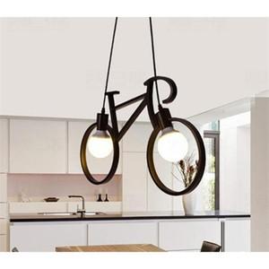 Lampada LED Retro Nordic Moderna di ferro biciclette Chandelier Cafe illuminazione Loft Bar soffitto Camera A790 Droplight Conservare Home Decor regalo