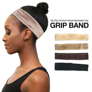 Flexible Velvet Wig Grip Scarf Head Hair Band Wig Band Adjustable Fastern Grip for Synthetic and Human Lace Front Wigs