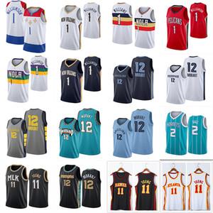NCAA Zion 1 Уильямсон Джерси JA 12 Morant TRAE 11 Young Lamelo 2 Ball Men Basketball Jerseys