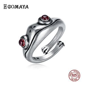 Gomaya 925 rana de plata retro de la personalidad creativa de la joyería anillo de joyería de plata esterlina anillo de animales Y200918 femenina