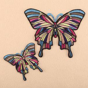 Individuelle Köper Eisen auf gestickten Schmetterling Stickereiflecken für Kleidung Stickerei Patch nähen für Kleidung hochwertige Stickerei-Patch