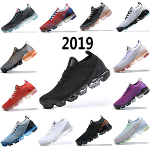 2021 air vapormax 2019 Flyknit 2.0 running shoes Women Soft Running Shoes For Real Quality Fashion Men shoes Sports Sneakers 36-40