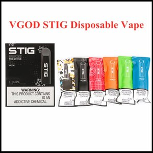 100% Original VGOD STIG Disposable 8 Colors Empty Pod Device 3Pcs Pack 270mAh Battery 1.2ml Cartridge Vape Pen Kit