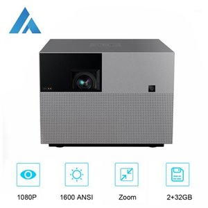 Proyectores Fengmi Vogue Pro DLP 1080P Proyector Full HD 1600 ANSI, 2 + 32GB Android WiFi Soporte de WiFi 4K Proyector, Theater Home Smart Phone Beamer1