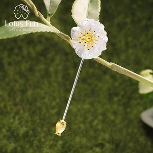 Lotus Fun Real 925 Sterling Silver Diseñador Hecho A Mano Joyería Fine Amapolas Flores Flower For Women Bijoux 201009