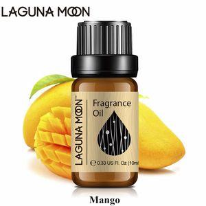 Lagunamoon 10ml Mango Fragrance Oil Fresh Linen Baby Powder Bubble Gum Strawberry White Musk Natural Plant Oil