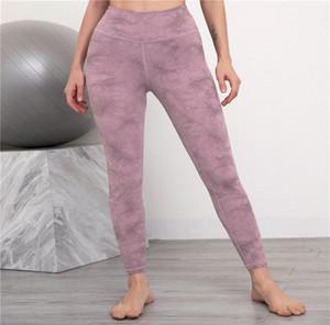 Pantaloni da donna Tie-Dye Pantaloni stampati Yoga Leggings Sport Fashion Skinny Esercizio Pantaloni lunghi Tutte le stagioni 2021 Abbigliamento casual da donna LY122301