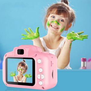 Enfants caméra enfants mini caméra numérique caméra de dessin animé mignon jouets pour cadeau d'anniversaire cadeau 2 pouces cam tacm prendre des photos GWB4124
