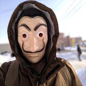 Salvador Dali Mask movie The House of Paper La Casa De Papel Cosplay Accessories Halloween Masks Money Heist Costume